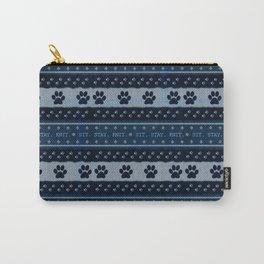 Pet Lover, Knitter, Artist. Blue. Carry-All Pouch