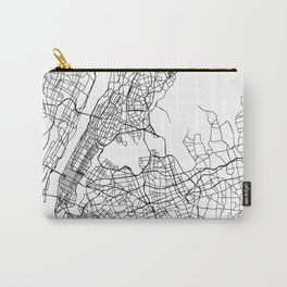 New York New York Street Map Minimal Carry-All Pouch