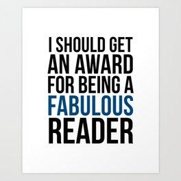 FABULOUS READER Art Print