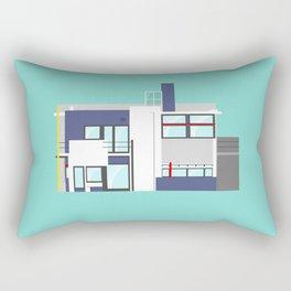 Iconic Houses - Rietveld House Rectangular Pillow