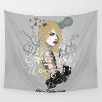 cara Wall Tapestries featuring Cara by lalinsan