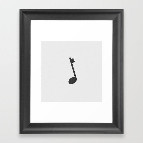 Keynote (Alt). Framed Art Print
