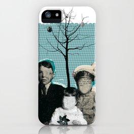christmas portrait iPhone Case