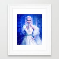 frozen elsa Framed Art Prints featuring Elsa by Joe Roberts