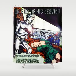THE END OF HIS SERVICE (1940) Shower Curtain