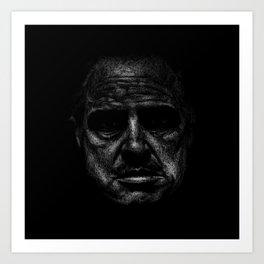 Godfather (B&W) Art Print