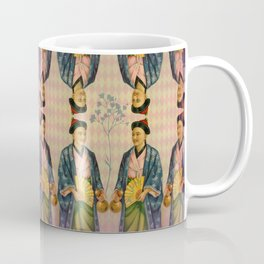 Antique Asian Trade Card Coffee Mug