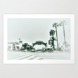 Santa Monica . Art Print