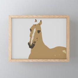 Abstract Palomino Horse Framed Mini Art Print