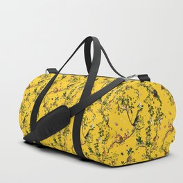 Monkey World Yellow Duffle Bag