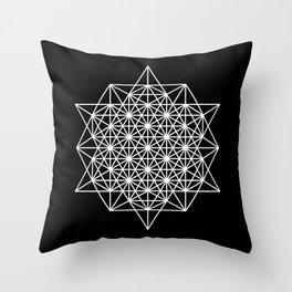 White star tetrahedron Throw Pillow