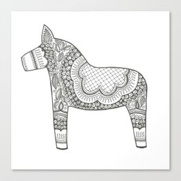 Dala Swedish Horse  Canvas Print