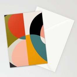 geometry shapes 3 Stationery Cards