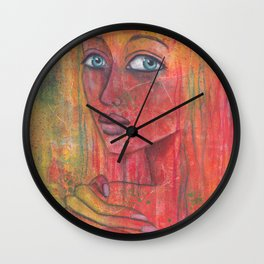 Let go of what harms you, practice what heals you Wall Clock