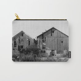 Abandoned Barns (Black & White Photography) Carry-All Pouch