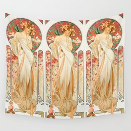 "Alphonse Mucha ""Sylvanis Essence"" Wall Tapestry"