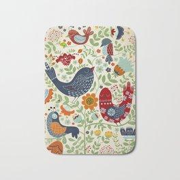 BIRDS AND FLOWERS Bath Mat