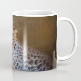 Cute painting amur leopard cub Coffee Mug