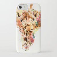 giraffe iPhone & iPod Cases featuring giraffe by RIZA PEKER