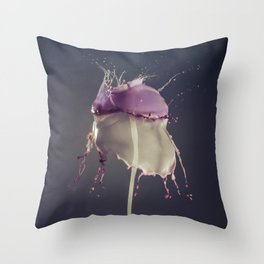 Vanilla and Bluberry Throw Pillow