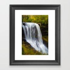Silky waterfall Framed Art Print