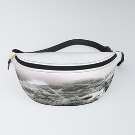 Winter comes to mountains Fanny Pack
