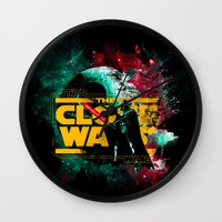 starwars Wall Clocks featuring STARWARS by Burcu Korkmazyurek