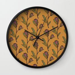Rose & Thistle Wall Clock