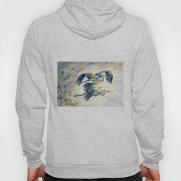 Flying Together - Great Blue Heron Hoody