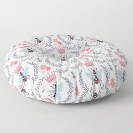 Queen Bee - Coral Pink Floor Pillow
