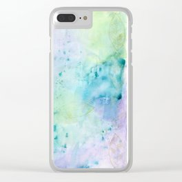 Under Water Leaves Clear iPhone Case