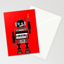 80s Mix Tape Robot - Gene (KISS TRIBUTE) Stationery Cards