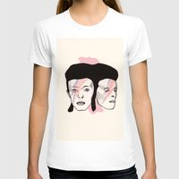bowie T-shirts featuring Bowie by NikkiMaths