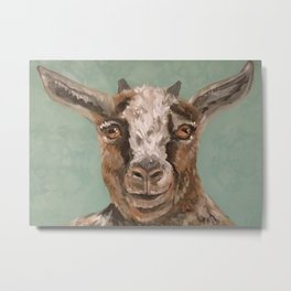 Nursery Art / Decor - Barnyard Baby Goat Metal Print