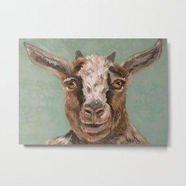 Nursery Art / Decor - Barnyard Baby Goat Metal Print