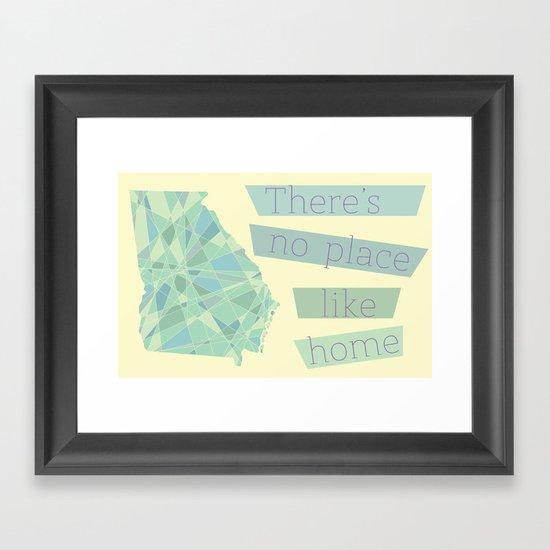 Georgia - There's No Place Like Home Framed Art Print
