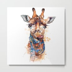 Giraffe female Metal Print