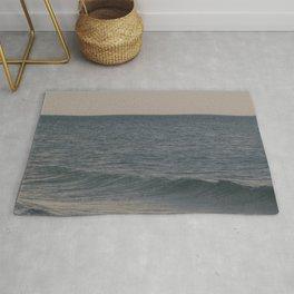 Breakers // Lake Michigan Waves Photography Rug