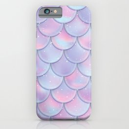 girly chic summer beach pastel lilac pink purple iridescent mermaid scales iPhone Case