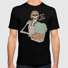 Even In Death Black LARGE Mens Fitted Tee