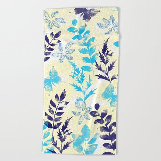 Floral Pattern VI Beach Towel