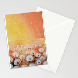 Sunrise and Dandelions, Watercolor Stationery Cards