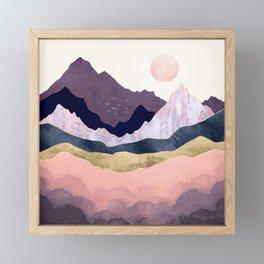 Mauve Mist Framed Mini Art Print