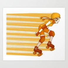 Roller Derby Skater by RonkyTonk Art Print