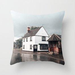 Rain storm in England Throw Pillow