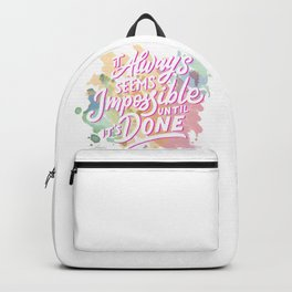 It's always possible Backpack