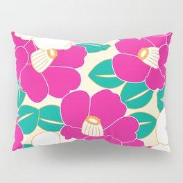 Shades of Tsubaki - Pink & White Pillow Sham