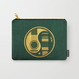 Vintage Green and Yellow Acoustic Electric Guitars Yin Yang Carry-All Pouch