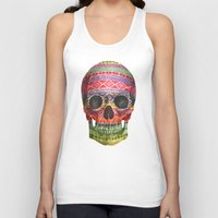 navajo Tank Tops featuring Navajo Skull  by Terry Fan
