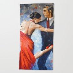 Argentine tango Beach Towel